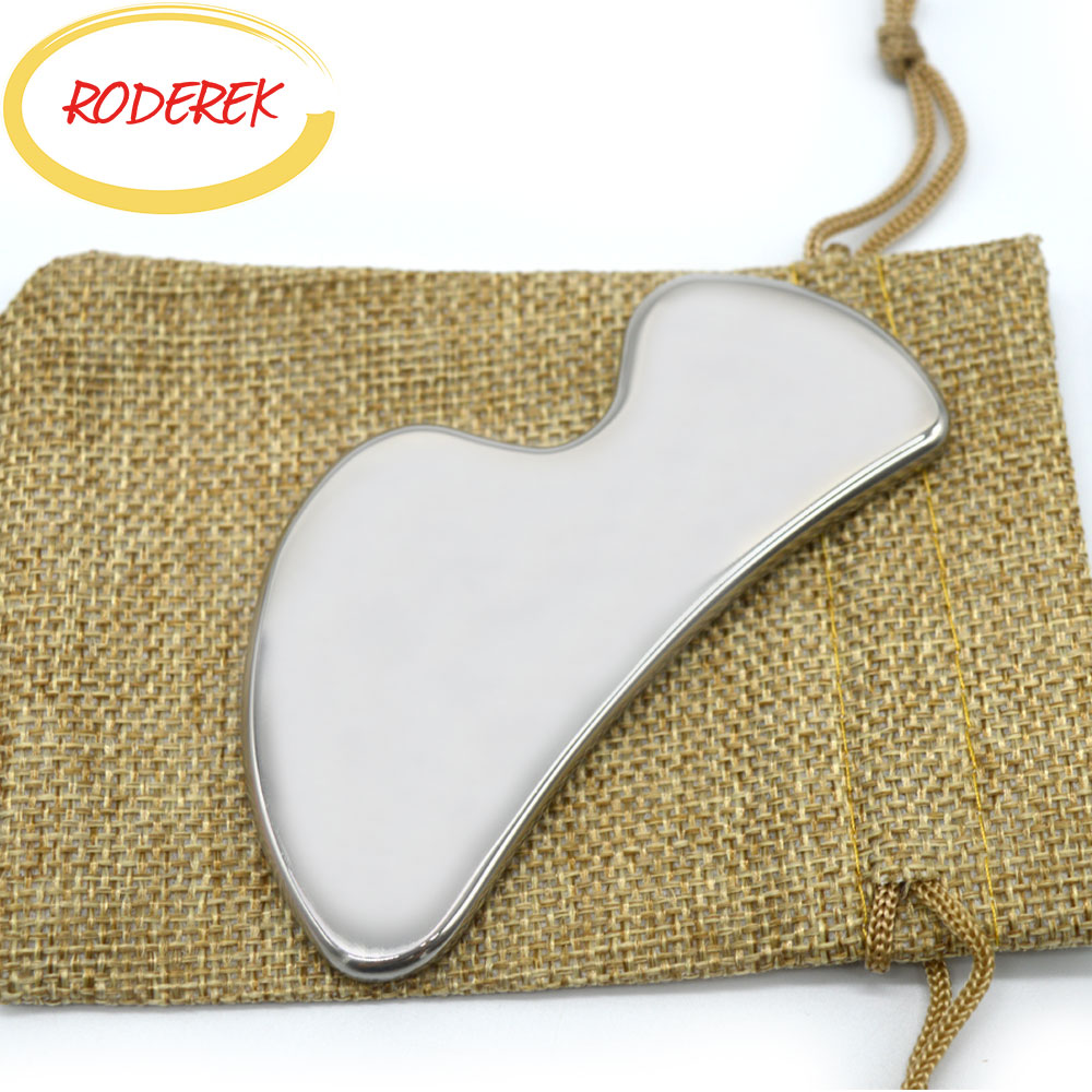 Steel Gua Sha Board Body Scraper Chinese Guasha Tool For Relax Body Health Care Therapy MassagerSteel Gua Sha Board Body Scraper Chinese Guasha Tool For Relax Body Health Care Therapy Massager