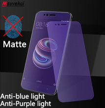 For Xiaomi Redmi Note 7 6 5 Pro 5 Plus 6A Y1 Y2 Black Shark Anti Blue Purple Light Matte Frosted Tempered Glass Screen Protector цены онлайн