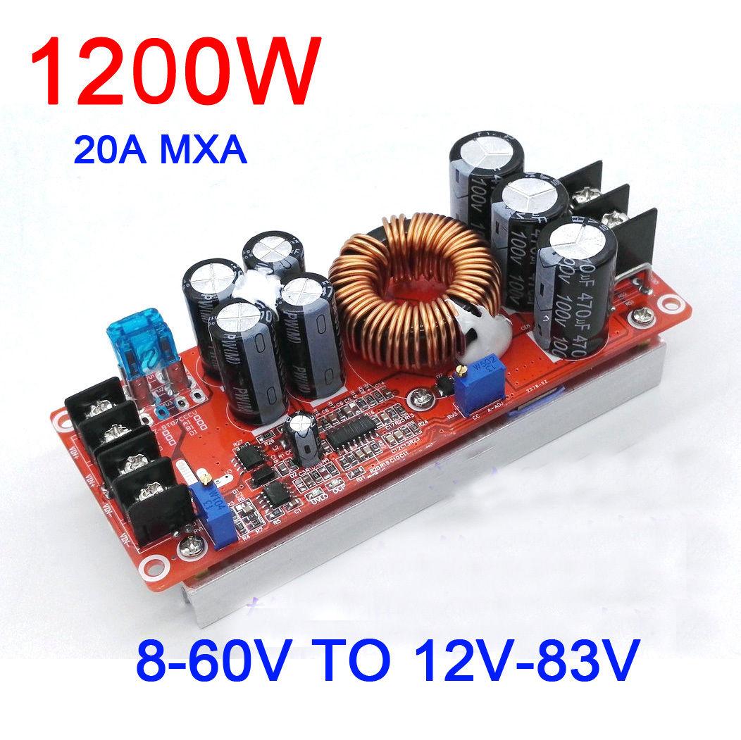 12V TO 48V 20A STEP UP DC DC CONVERTER 20 AMP 1000 Watt Electrical