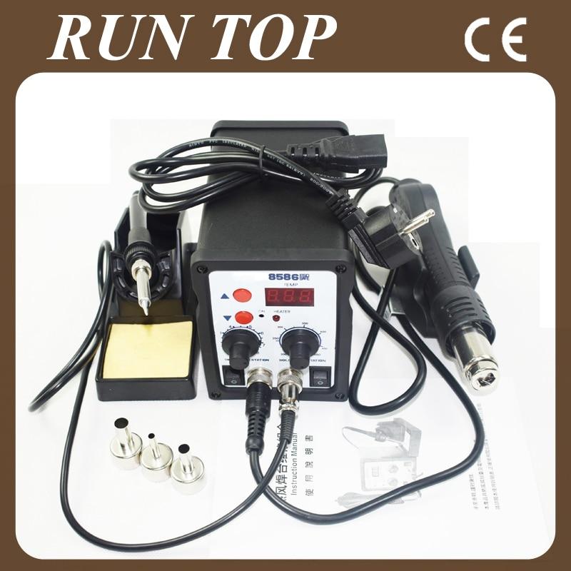 buy eruntop 8586 esd hot air gun soldering station welding solder iron for ic. Black Bedroom Furniture Sets. Home Design Ideas