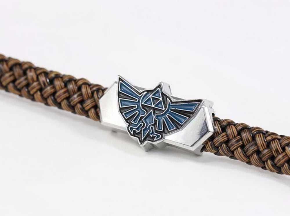 SUTEYI Новый Для мужчин ювелирные изделия кожаный браслет игры Легенда о Zelda Браслеты Косплэй браслеты кожаный плетеный браслет оптовая продажа