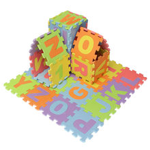 36pcs/set Puzzle Number Letter Alphabet Eva Foam Mat Children's Soft Developing Crawling Baby Play Pad Floor Rugs For Baby Games(China)