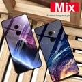 Coque For xiaomi mi Mix case Starry sky tempered Glass + TPU Edge Slim Thin Hard Back Cover For xiaomi mi Mix 1 Mix1 phone case
