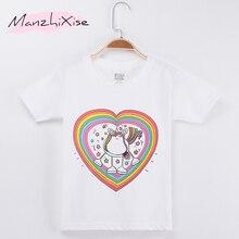 купить 2019 Fashion Nova Children Clothes Kids T-shirts Love Unicorn Cotton Child Short T Shirt Toddler Shirt Girls Tops Baby Tee 3-12Y дешево