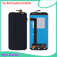 LCD Display For BLU 6 0 D650 650 Mobile Phone LCDs Touch Screen 100 Guarantee Black