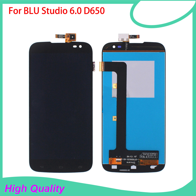 LCD Display For BLU Studio 6.0 HD D650 650 Mobile Phone LCDs Touch Screen 100% Guarantee Black Color Touch Panel Free Tools