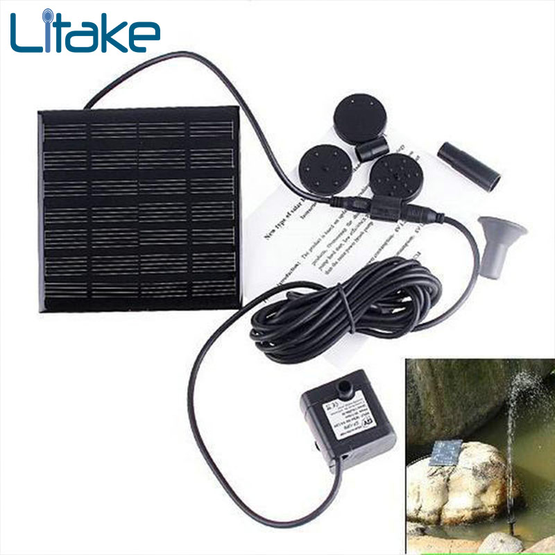 Litake LED Solar Powered Fountain Pump, Energy-Saving Submersible Solar Water Pumps For Garden Pond 7V