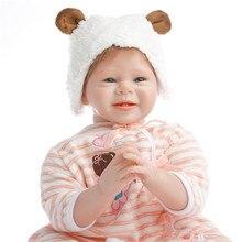 SanyDoll горячая Распродажа силиконовые reborn baby 22 дюймов 55 см прекрасный кукла мальчик и девочка подарок к празднику