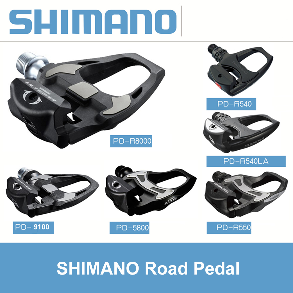 Original PD-R540 PD-R550 PD-R8000 PD-5800 PD-6800 Road Bike Clipless Bicycle Pedals With Cleats