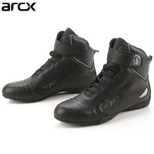 Free delivery 1pair ARCX Cowhide Leather Motorbike Motorcycle Boots Armoured Short Ankle Shoes Racing Sports Boots
