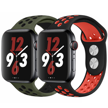 Sport Silicone Strap for Apple Watch Band Nike+ 44mm 40mm 42mm 38mm Dual Color Replacement Watch band for iWatch series 4 3 2 1 leather band for apple watch 40mm 44mm series 4 high quality mixed color replacement strap for iwatch series 1&2&3 38mm 42mm
