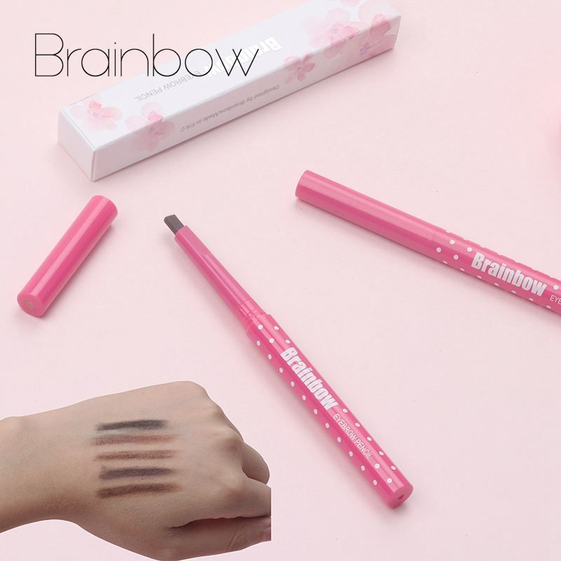 Brainbow Crayon À Sourcils Longlasting Imperméable À L'eau Durable Doublure À Sourcils Automatique + 3 Sourcils De Forme Pochoirs De Toilettage Kit De Maquillage