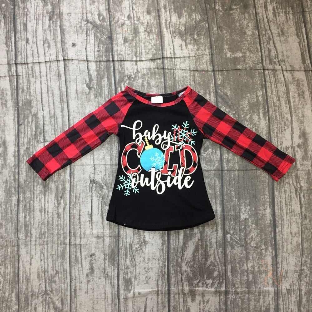Christmas Fall winter baby girls children clothes boutique cotton top t-shirts  raglans outfits 51a420090314