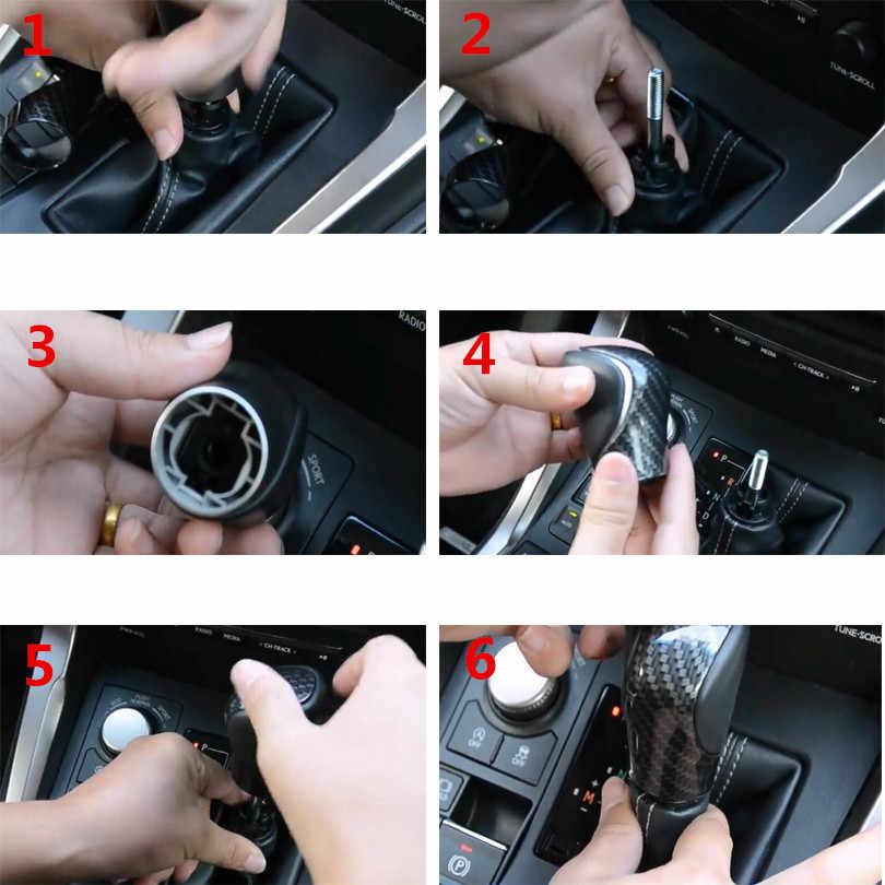 Yaquicka Knop Ganti Gigi Mobil Penutup Mobil Stiker Potong Styling untuk Lexus NX RX Ialah Gs 2016 2017 ABS aksesoris