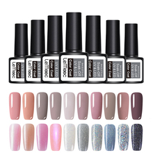 hot deal buy lemooc glitter gel nail polish 8ml soak off uv gel 70 colors pure color nail gel varnish diy nail art manicure nail gel lacquer