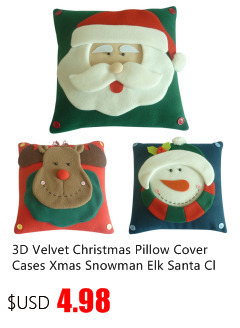 3D Velvet Christmas Pillow Cover Cases Xmas Snowman Elk Santa Claus Cushion Covers Pillowcase Navidad New Year Home Decor