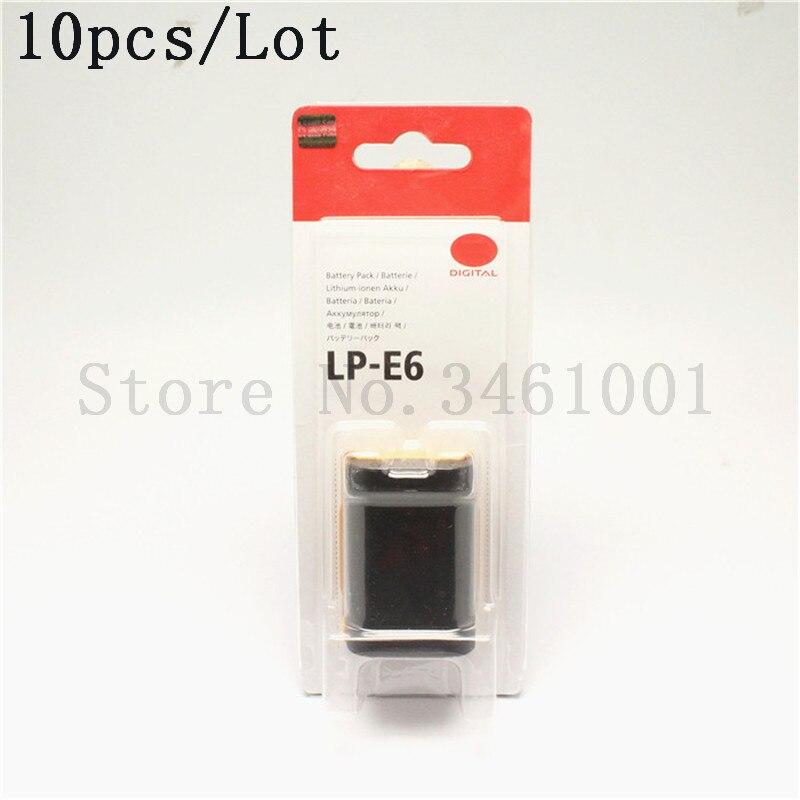 10pcs lot LP E6 Battery E6 LP E6 LPE6 Batteries For Canon EOS 5D Mark II