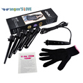 09-32mm Pro Series 5 in 1 Curling Wand Set Hair Curling Tong 5pcs Hair Curling Iron The Wand Hair Curler Roller Gift Set