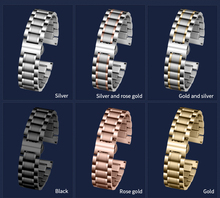 Carouse Stainless Steel Strap 13mm 14mm 16mm 18mm 20mm 22mm 24mm Metal Watch Band Link Bracelet Watchband Black Silver Rose Gold стоимость