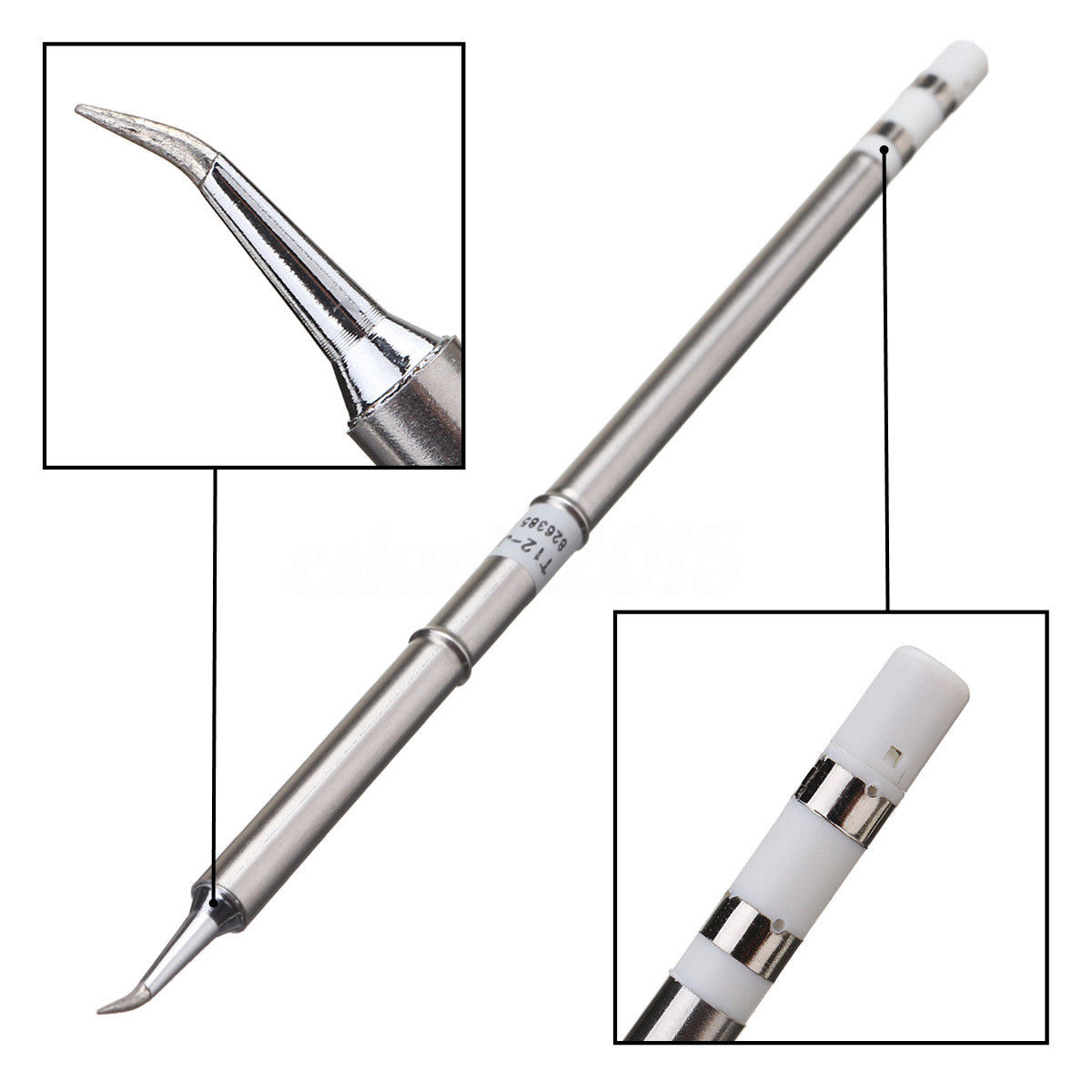 1pc Heavy Duty T12 Soldering Iron Tips Silver Welding Solder Station Tip Replacement For HAKKO