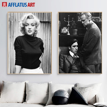 Marilyn Monroe Wall Art Canvas Painting Black White Posters And Prints Godfather Ali Pictures For Living Room Home Decor