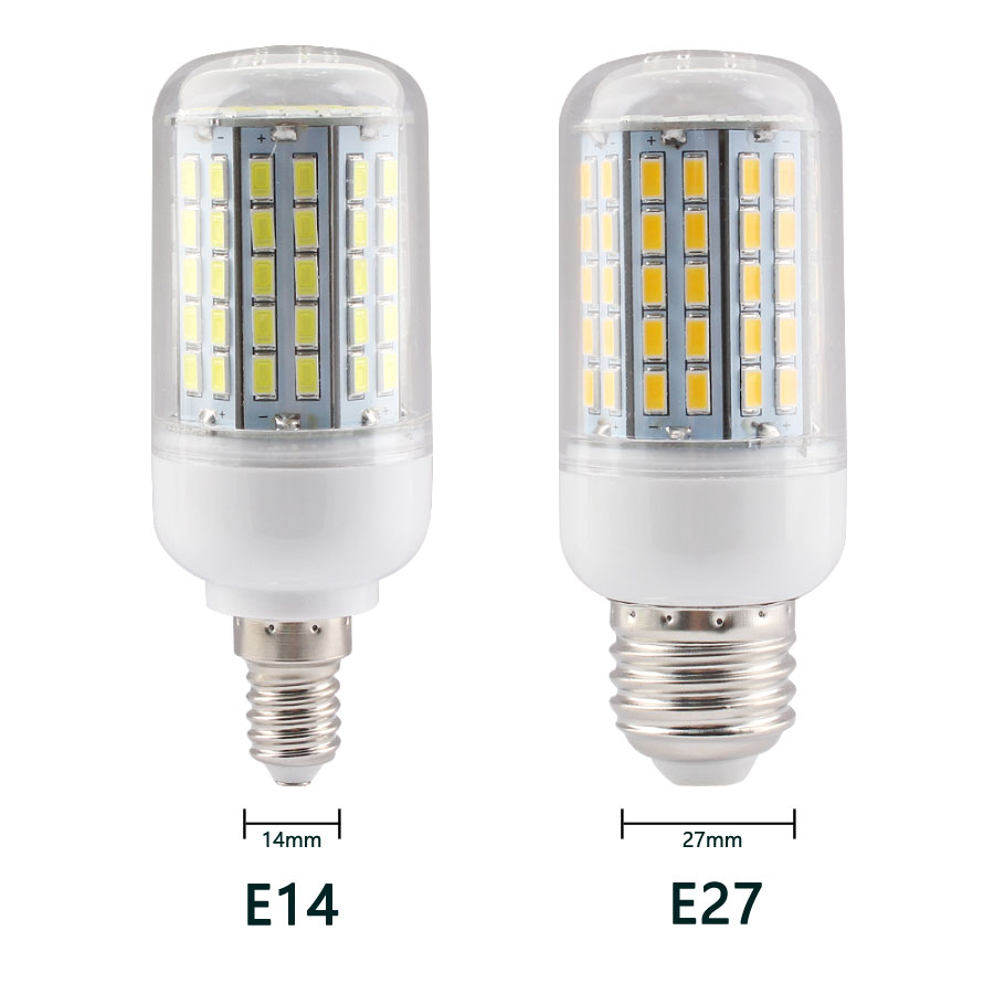 E14 E27 Led Lamp Bulb E27 E14 5730 Smart Home Bulb 220v Led Lamp Light Bulb E14 Led E27 Lamp Smart Home  24 36 48 56 69 72LEDs