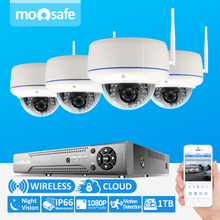 4CH Wireless NVR Kit 1080P 2 0 Megapixels Outdoor IR Night Vision Dome IP Camera WIFI