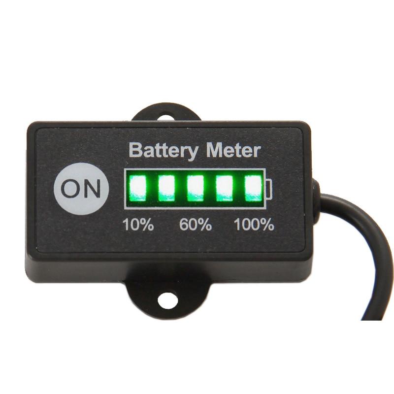 Gratis frakt Batteri Bränslemätare Batterimätare 12V 24V bly-surt - Motorcykel tillbehör och delar