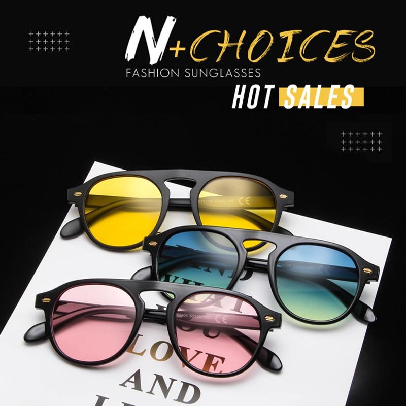 Ou Mo brand Round glasses flat lens polarized Sunglasses Women Men polarized Reflective For Women Men zonnebril dames in Women 39 s Sunglasses from Apparel Accessories