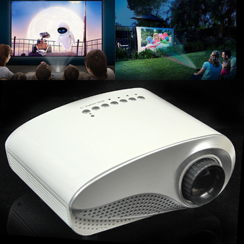 ФОТО Portable mini HD Home Cinema Theater Multimedia LED LCD Projector HD 1000:1 Support HD 1080P USB PC AV TV VGA HDMI free shipping