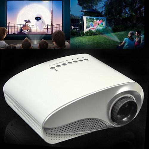 Portable mini HD Inicio Cine Teatro Multimedia LED Proyector LCD HD 1000:1 Apoyo HD 1080 P PC TV AV USB VGA HDMI libre gratis
