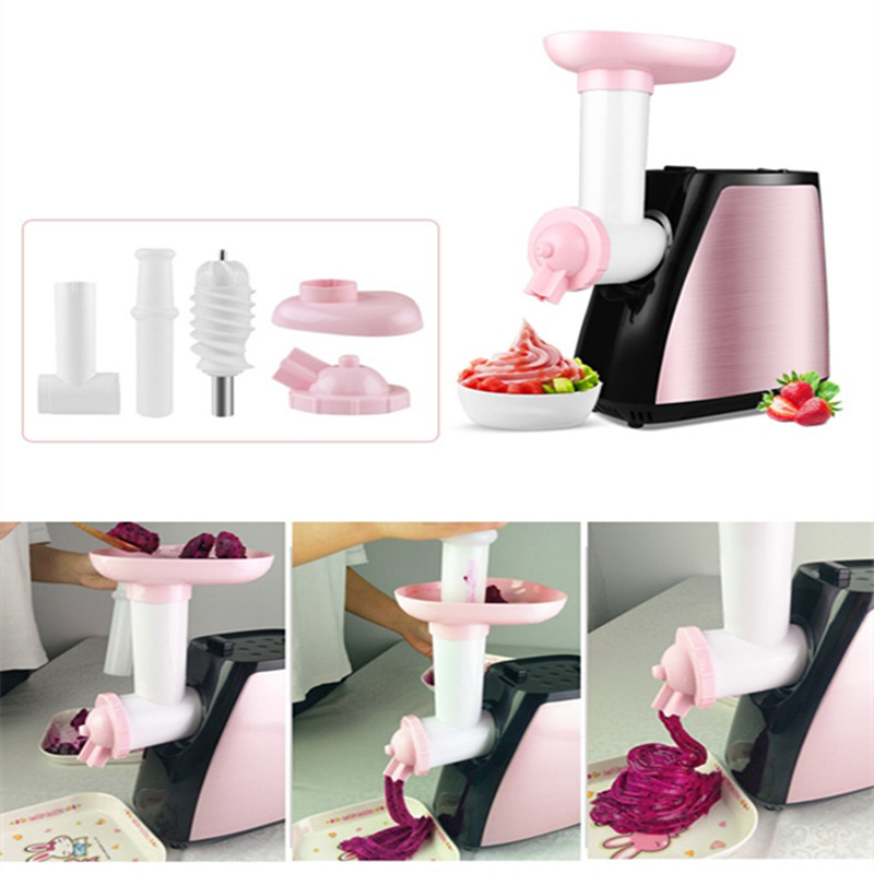 220V 3 In 1 Multifunctional Electric Meat Grinder Machine Ice Cream Machine Vegetable Slicer With Sausage Maker EU/AU/UK/US