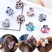 Hot New Fashion Hairpin 1PC Girls Bang clip Side Clip Leopard Print Women Korean Plum Blossom Hair Claws Accessories