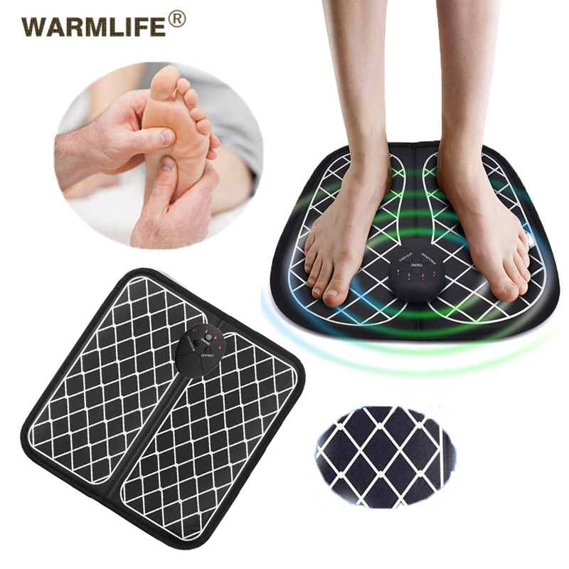 Electric EMS Foot Massager Wireless Feet Muscle Stimulator ABS Physiotherapy Revitalizing Pedicure Tens Foot Vibrate Massage Ma