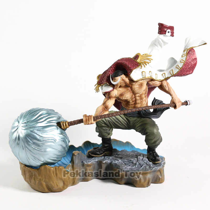 WHITE BEARD Pirates Edward Newgate Anime ONE PIECE 22cm PVC Figure Toy New Loose