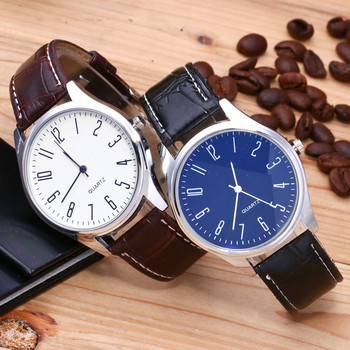 Casual Leather Waterproof Quartz Wristwatches Man Clock 3