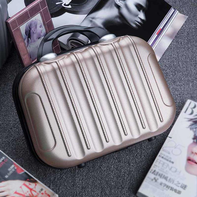 Pequeno Hardside Mala de Viagem Fim de Semana Roupas Beleza Maquiagem de Higiene Pessoal Organizer Caso Caixa de Armazenamento de Lona Bagagem Acessórios