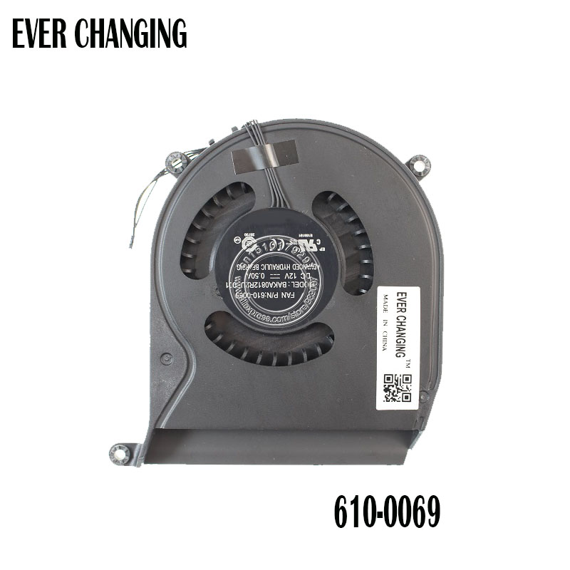 New BAKA0812R2UP001 DC12V 0.50A COOLING FAN FOR APPLE FAN P/N:610-0069 Apple Mac Mini A1347 Mid 2011 COOLING FAN
