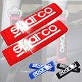 Одна Пара Ремень безопасности Обложка Плеча Колодки Белого SPARCOS Красный синий Черный цвет ремень fit Автомобиля Подушки Коврик стайлинга автомобилей обивка