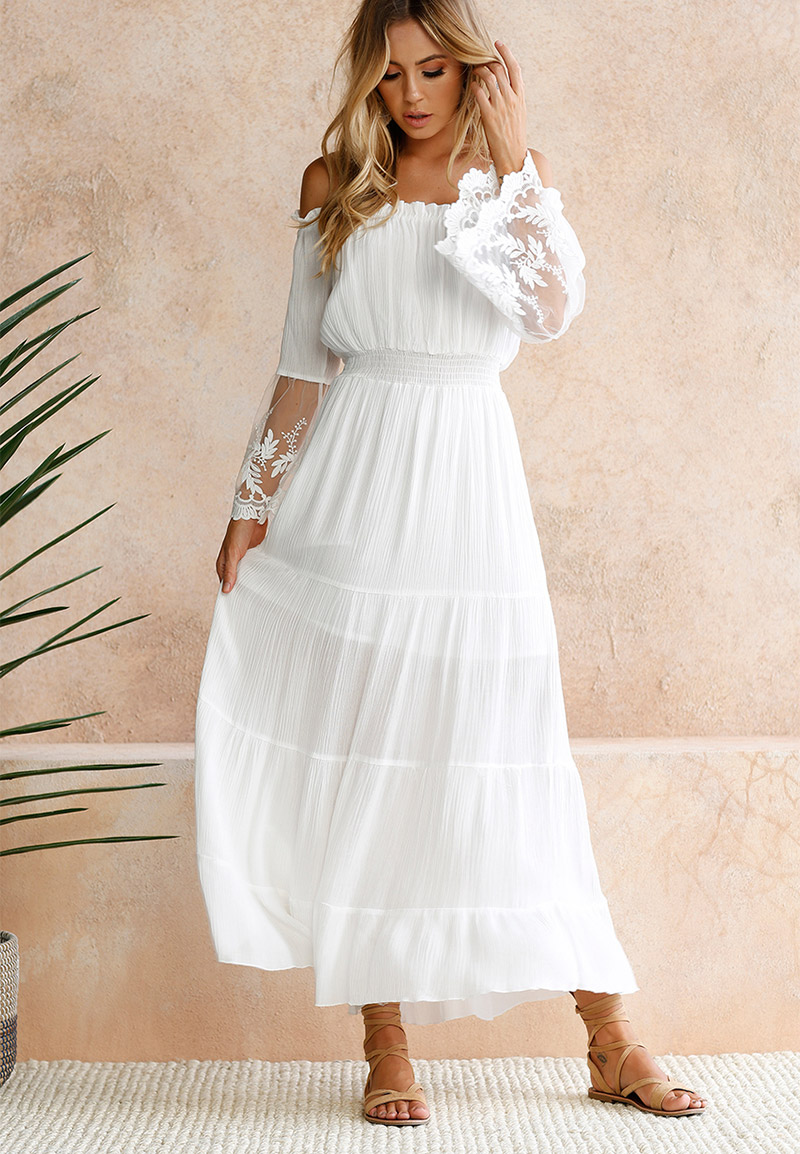 White Beach Dress Women Summer (3)