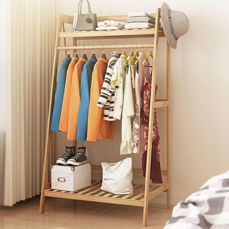 Simple Wooden Coat Rack Racks  Clothes Stand Standing Clothes Rack Jacket Holder Jacket Hanger Bedroom Furniture