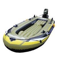 Acqua Sport Cuscinetti 4-Barca uomo Con Pompa Gonfiabile Barca A Remi Nave Barca Da Pesca Barca di Gomma e Kayak