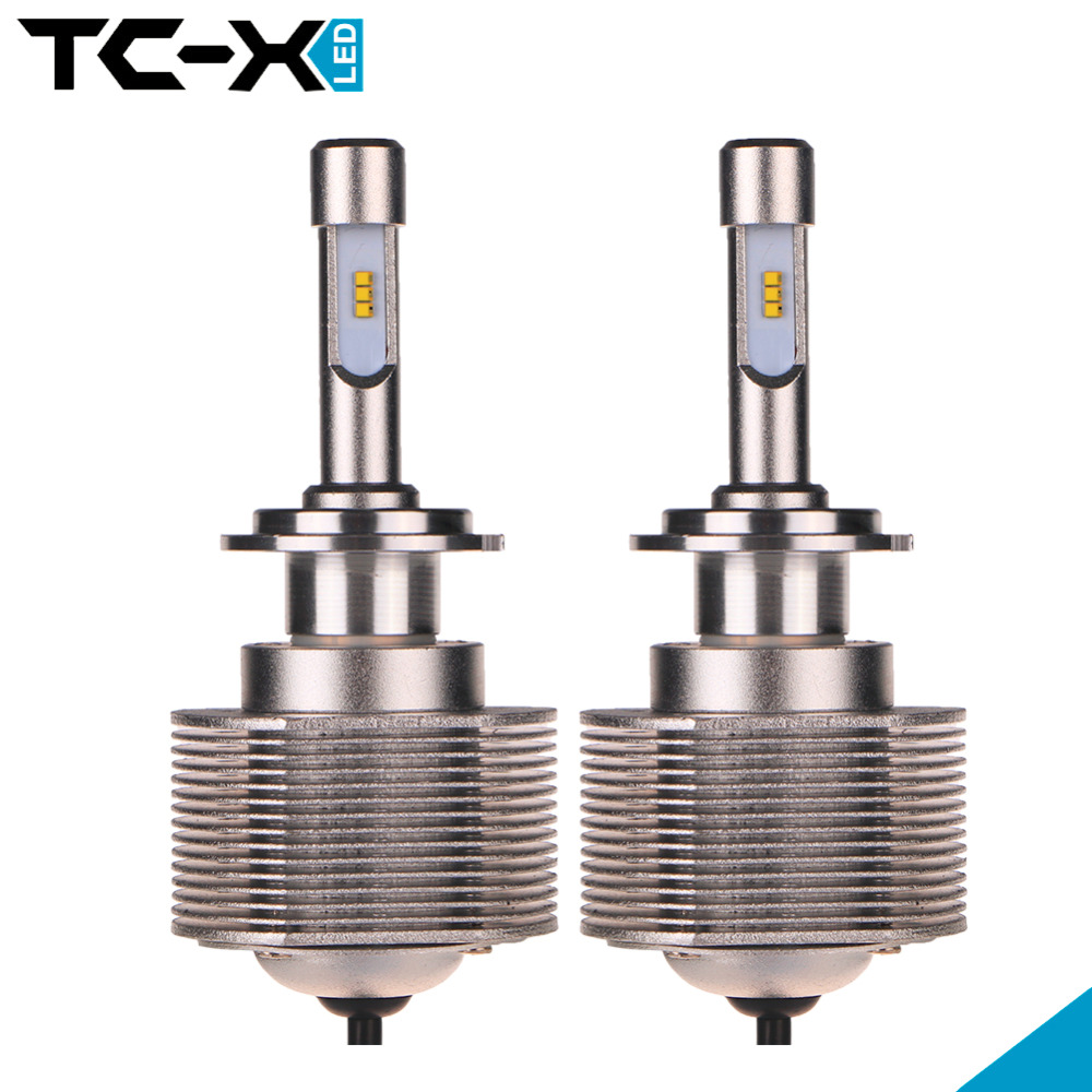 цена на TC-X 9003 HB2 H4 Led Car Headlights Auto Lamp H7 9005 HB3 LED Car Light Bulb luxeon zes Chip 6000K White 12V Bright Light Source