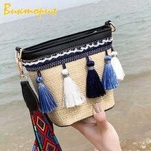 CHRAR'S brand women's Shoulder Bags Bucket Handmade Straw Messenger Bags tassel 2019 new women's Beach Travel bag Clutch cannondale supersix women's 5 105 2013