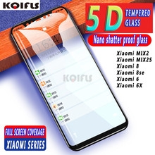 KQIFLS 5D tempered glass full coverage For Xiaomi Mi 6 5 5C 5S Plus 5X 6X Mi8 Mi8SE Redmi 6 6A Screen Protector Protective Glass