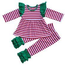 Retour À L'école Enfants t-shirt Leggings Filles Boutique Vêtements ensemble De Noël Renne Vente Chaude Filles Tops Bébé Vêtements Chemise pantalon
