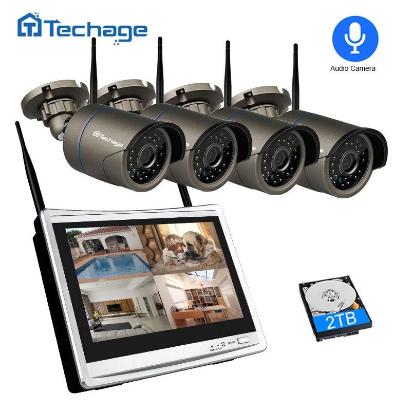 Techage 4CH 1080P Wireless Security Camera System 12\