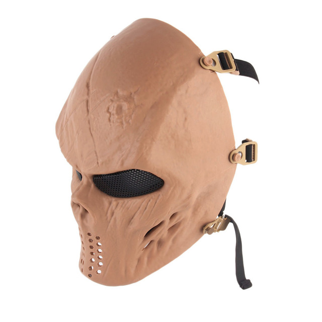 Paintball Impact Resistant Skeleton Halloween Military CS Mask Tactical free shipping
