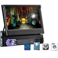 Car     Radio   7 Inch HD Touch Screen telescopic MP5/ MP4   car   Player autoradio Bluetooth AUX Stereo   Radio   Remote Control In Dash