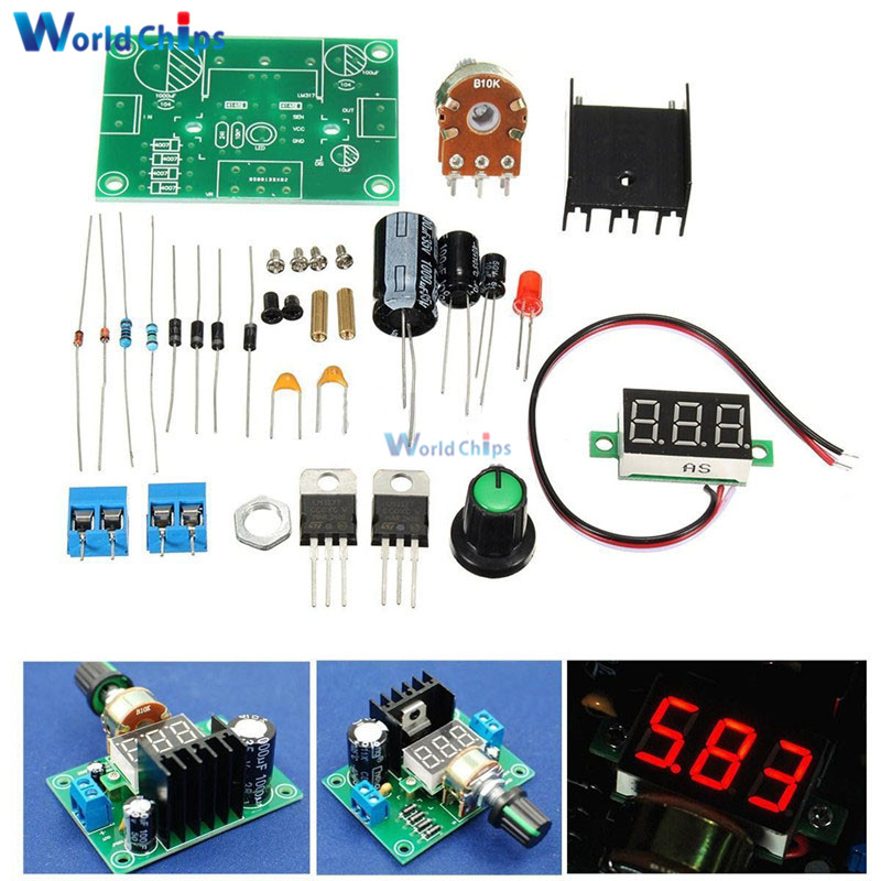 LM317 Adjustable Voltage Regulator Power Board Kit Production Electronic DIY Large Secondary School Graduation Design Parts